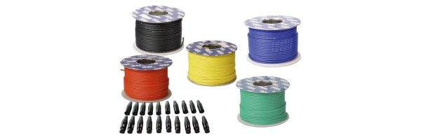 Kabel auf Spulen