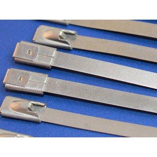 10 St. Fleximark Edelstahlkabelbinder 200 mm x 4,6 mm