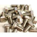 100 Stück M10 x 20 Edelstahl Sechskantschraube A2-70 DIN 933
