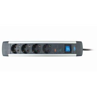 as - Schwabe ALUX Steckdosenleisten mit Überspannungsschutz 18.364  4-fach