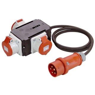 as - Schwabe Mixo CEE Stromverteiler NECKAR  mit 1,5m Kabel 16A / 400V IP44