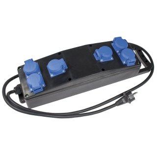 as - Schwabe  6-fach Vollgummi Steckdosenleiste S1 mit Schutzkontaktstecker 230V / 16A