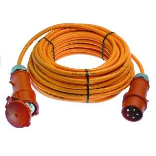 as - Schwabe CEE Starkstrom Kabel Verlängerung 400V / 16A H07BQ-F 5G1,5 mit Phasenwender 10m