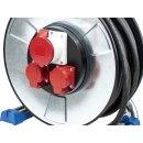as - Schwabe IronCoat Xperts CEE Metallkabeltrommel 400V / 16A  25m H07RN-F 5G2,5