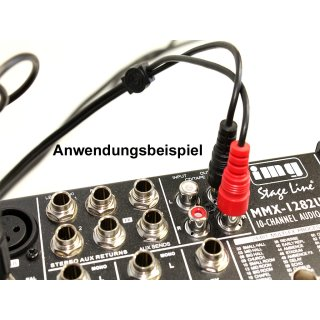 Monacor Cinch / RCA  Audio Verbindungskabel