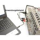 Monacor Audio Adapterkabel 3,5mm Klinke auf XLR Buchse