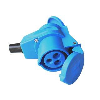 as - Schwabe CEE Winkelkupplung 230V / 16A  3-polig mit Schukosteckdose