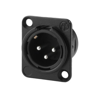 Neutrik XLR Einbau Stecker 3-polig schwarz