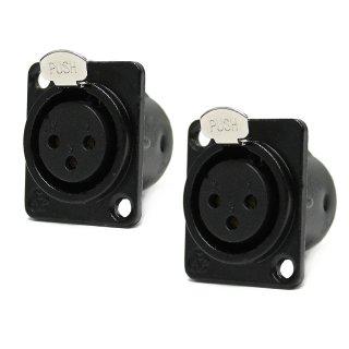 DAP-Audio XLR Einbaubuche 3-polig  2 Stück