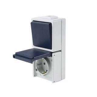 Aufputz Schalter Serie AS-900 Kombination senkrecht