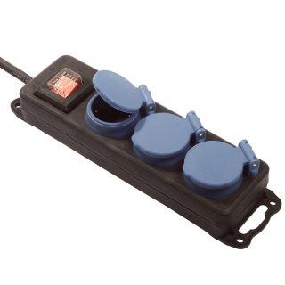 as - Schwabe Steckdosenleiste IP44 3-fach mit 1,5m Kabel