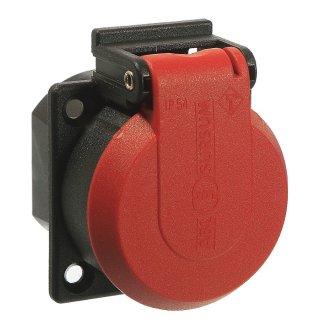as - Schwabe Schutzkontakt Einbausteckdose rot