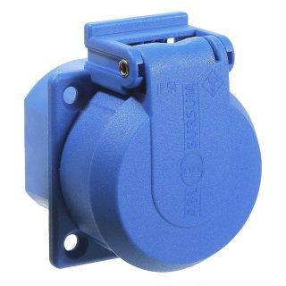as - Schwabe Schutzkontakt Einbausteckdose blau